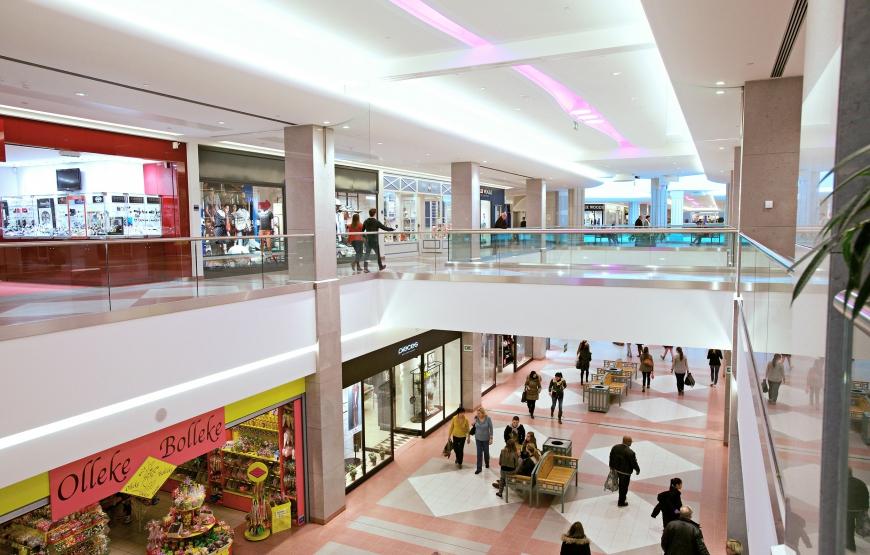 SPARQ Balustrades Wijnegem Shopping Centrum plaatwerk in kleur