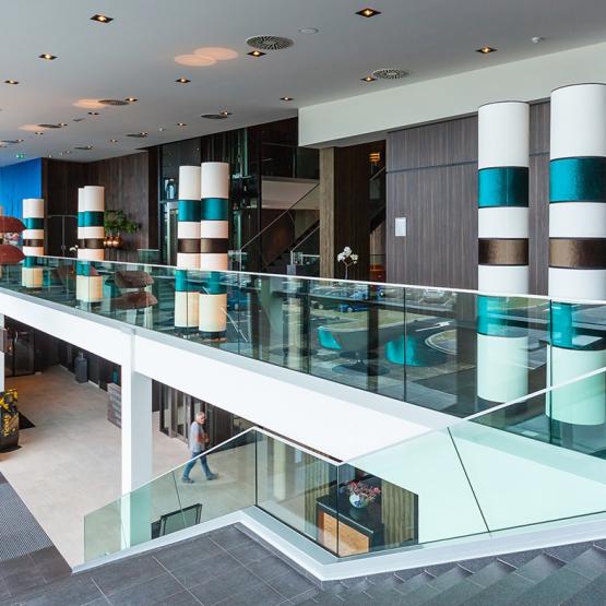 SPARQ Balustrades Hoorn Vd Valk Hotel profiel in kleur